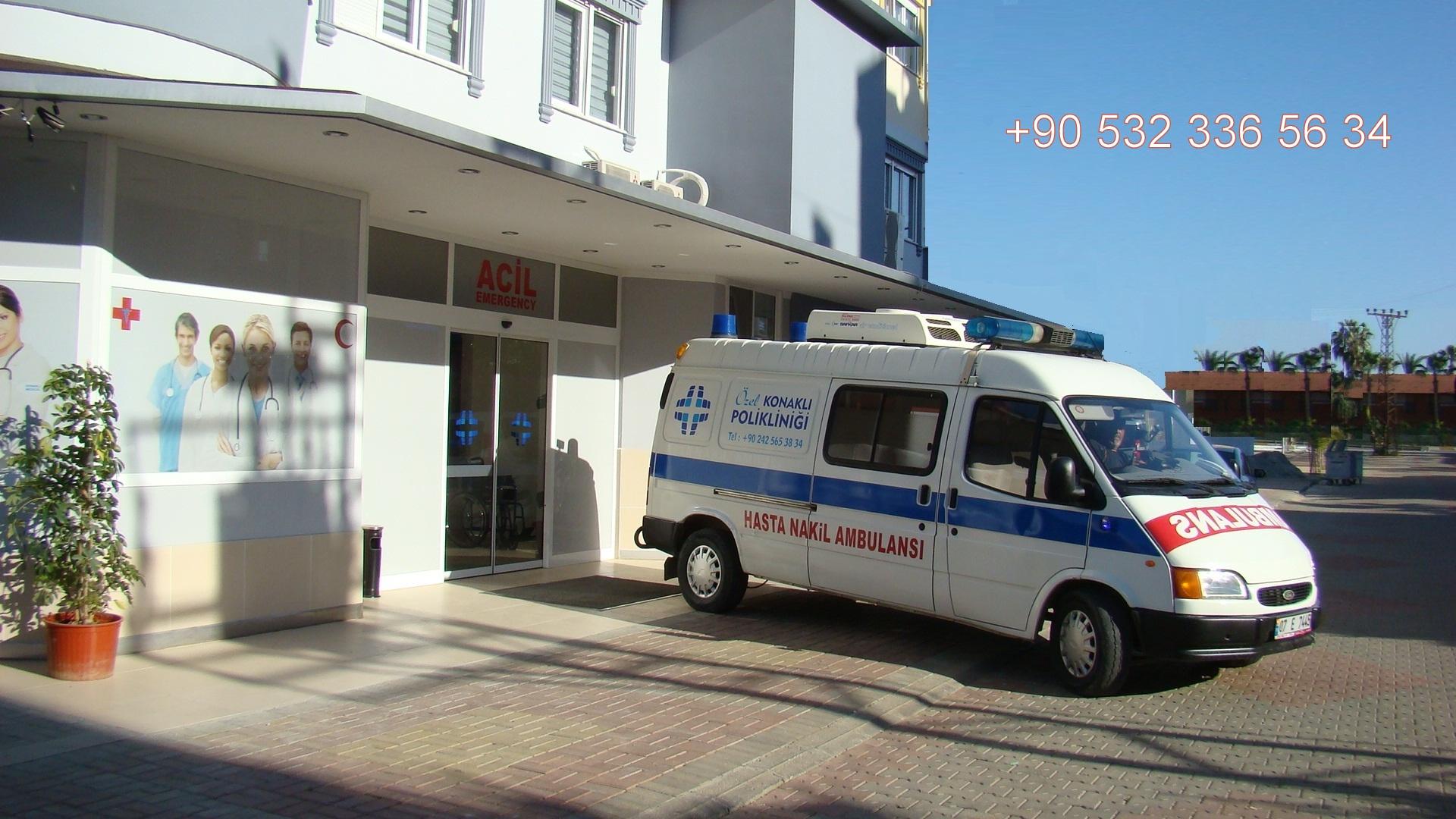 +ambulance doctor arzt in konakli alanya avsallar